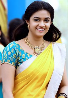 Top 15 Beautiful Pics of Keerthi Suresh in Saree Beautiful Girl Indian, Most Beautiful Indian Actress, Beautiful Saree, Simply Beautiful, Beautiful Women, Beautiful Bollywood Actress, Beautiful Actresses, Tori Tori, South Indian Actress Hot