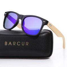 e396ad6a2c80a  Sunglasses BARCUR Bamboo Sunglasses Wooden Sunglasses Men Women Square  Glasses Polarized Eyewear oculos Wooden