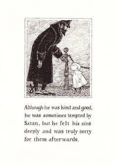 The Pious Infant: Edward Gorey's Rare Illustrated Allegory about the Dangers of Dogmatism | Brain Pickings
