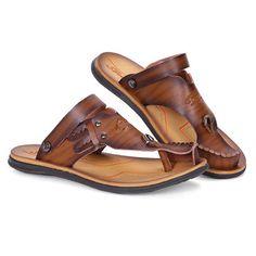 ee2f78abc Men Anti-collision Toe Metal Buckle Slip On Soft Casual Sandals Slipper  Sandals