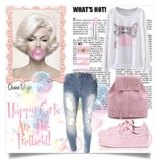 """Bubble Gum"" by queenvirgo on Polyvore featuring adidas and Casetify"