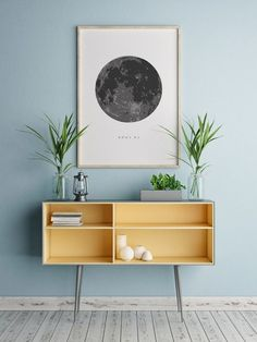 wandgestaltung wand dekorieren lunar foto dekoration wohnung dekoideen