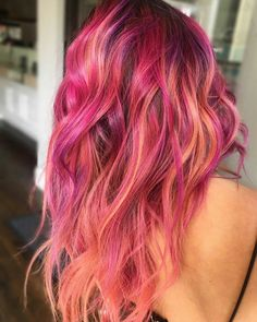 Ombre Hair, Pink Hair, Flame Hair, Coloured Hair, Bright Hair, Dye My Hair, Crazy Hair, Cool Hair Color, Hair Inspiration