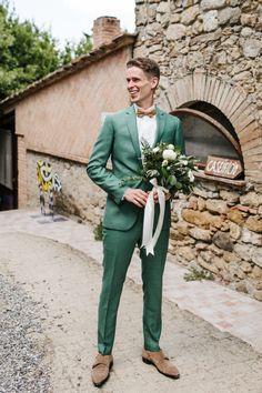 Jade Green Weddings, Green Wedding Suit, Wedding Dress Men, Tuxedo Wedding, Wedding Groom, Wedding Suits, Groom Outfit, Groom Dress, Hipster Suit