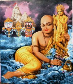 """Lord Śrī Caitanya, in the ecstasy of Rādhārāṇī, always pined for Lord Śrī Kṛṣṇa at Jagannātha Purī"""
