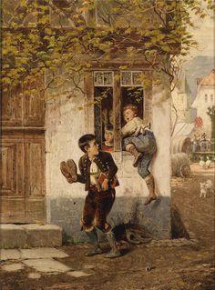 naughty boys climb into the house