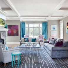 teal and gray living room - Google Search