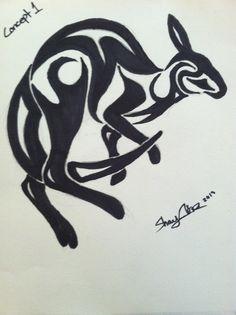 Tribal Kangaroo- Tattoo Concept by TawnyMutt on deviantART