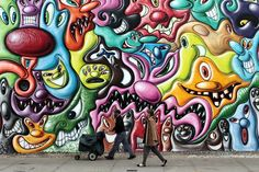 Mural By Graffiti Artist Kenny Scharf Is Latest Work To Adorn Bowery Mural Wall