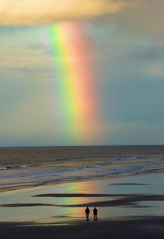 Beach rainbow - Bamburgh, Northumberland, England  (by Paul Spencer on Flickr)