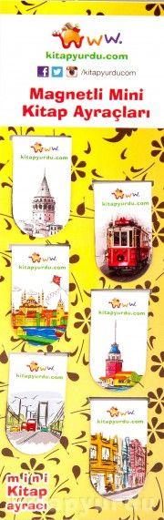 Magnetli Mini Kitap Ayraçları / İstanbul Temalı