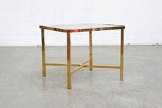 Pair of Maison Jansen Style Gold-Plated Coffee Tables For Sale at 1stdibs