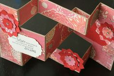 handmade card: Fantastic Folds ... shutter fold .... view from above ... luv the sentiment ...  reds and pinks ... beautiful!!