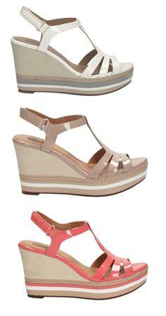 Die Sandalen mit dem 9 cm Keilabsatz lassen sich angenehm tragen und haben echtes Potential dazu, Ihr Lieblingsschuh des Sommers zu werden, Clarks Zia Wave, 79,95 Euro: http://www.clarks.de/p/26105874