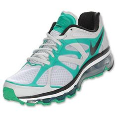 Nike Air Max+ 2012 Men's Running Shoes Pure Platinum/Black/Stadium Green $169.99