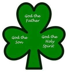 Image result for 4 leaf clover father son and the holy spirit