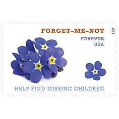 We used these stamps because they had purple flowers, and supported a great cause!