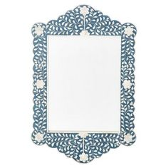 Check out this item at One Kings Lane! Sienna Bone Inlay Wall Mirror, Blue