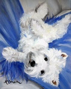 PRINT Westie West Highland Terrier Dog by HangingtheMoonShelby, $29.95  Looks just like my baby!