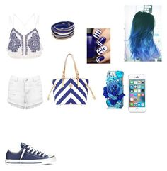 """Untitled #408"" by heyitsjewelsrose ❤ liked on Polyvore featuring River Island, Miss Selfridge, Dooney & Bourke and Converse"