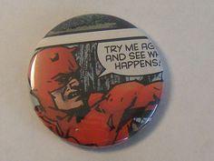 """Valentines Day Gift Sale Comic Book 1.5"""" Button// Daredevil, $0.75"""