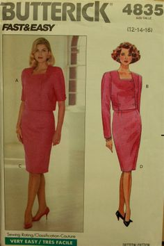 1990s  Top & Skirt  Butterick Classics Pattern by patterntreasury, $12.95