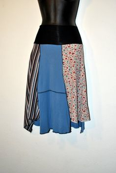 Recycled tee shirt skirt plus size by oreomocha on Etsy, $32.00