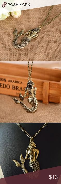 Vintage style Mermaid necklace Chic and fun to wear! STAR Jewelry Necklaces