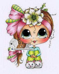 Téléchargement instantané numérique Digi Stamps Big Eye grosse tête poupées nouveau Besties img707 My Besties par Sherri Baldy