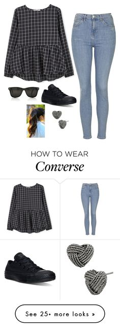 """""""Untitled #2901"""" by if-i-were-famous1 on Polyvore featuring MANGO, Topshop, Converse and Betsey Johnson"""