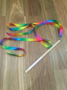 Rainbow Ribbon Wand / Rhythmic Gymnastics by HowNowBrownPaper