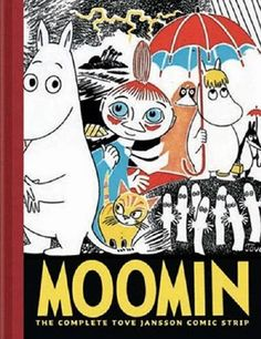 This Moomin book produced for Drawn and Quarterly. The Complete Tove Jansson Comic strip is a must have for any Moomin fan's library. Cloth quarter bound with an imitation cloth case, this is a beautiful volume much befitting the delights within. Tove Jansson, Les Moomins, Moomin Books, Children's Book Illustration, Book Illustrations, Book 1, Comic Strips, Kitsch, Troll