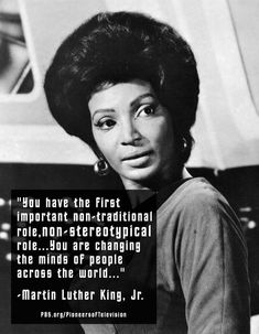 Thursday, September 8, 2012 was the 46th anniversary of 'Star Trek: The Original Series.' Nichelle Nichols was the first African-American woman to play a lead role on television. Star Trek - Knocking down racial barriers since 1966!
