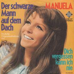 Der Schwarze Mann auf dem Dach. Tysk og frejdigt. Manuela synger en tysk version af det engelse bidrag fra 1971.
