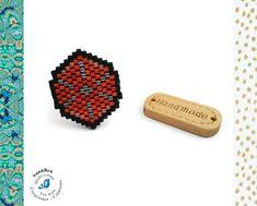 Bague Réglable Perles Tissées Perles Miyuki Japonaises Oranges Rouges Idée Cadeau Femme Saint Valentin Bague Réglable