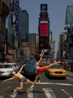 NYC. The City Council should put stands in this crosswalk to watch the performance if it happens often... // Kile Hotchkiss and Natasha Diamond-Walker by Richard Calmes