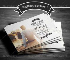 Invitación de boda de tipo Tarjeta Postal.