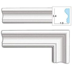 As a decorative element, door casings help define the style of a room by tying together all the trim elements like crown molding, window casings, and baseboards. This door casing can be cut and instal Vinyl Window Trim, Interior Window Trim, Window Casing, Door Casing, Interior Shutters, Wall Molding, Crown Molding, Moulding, Discount Interior Doors