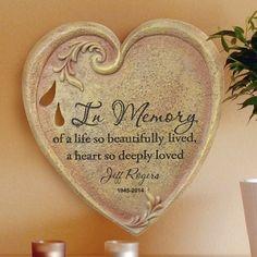 Engraved Memorial #Heart Stone
