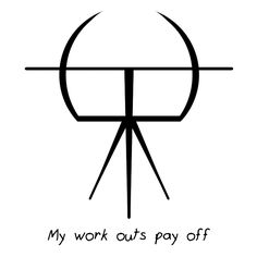 Sigil Athenaeum — sigil for 'me working out will pay off' or...