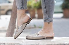 Leather Mules, Leather Flats, Women Shoes, Leather slip-ons, Woven Shoes, Flip-Flops, Free Shipping