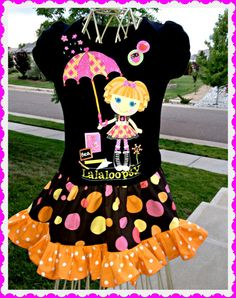 LaLaLoopsy girls custom boutique Bea Spells a lot  twirl party Dress Surprise  size 4 last one