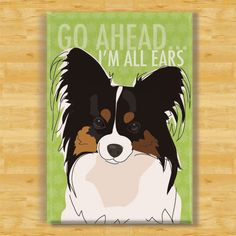 Love this!! Papillon Dog Breed Magnet All Ears by PopDoggie on Etsy.