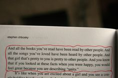 The Perks of Being a Wallflower by Stephen Chbosky.