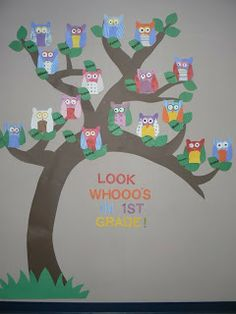 Mrs. T's First Grade Class: Look Whooo's In First Grade - with templates (very slow to load but lots of useful things on the site)