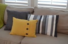 Easy Pillow Shams in 30 minutes- even if you don't sew, this is super easy.. and cheap!