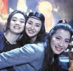 Martial Arts Asia Action — The Heroic Trio Anita Mui & Maggie Cheung &. Leslie Cheung, Maggie Cheung, Anita Mui, Michelle Yeoh, Look At The Sky, 80s Movies, Like U, Comics Girls, Film Posters