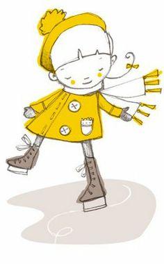 Girl on ice skates