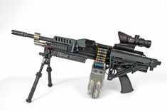 The 5.56mm CT LSAT machine gun.