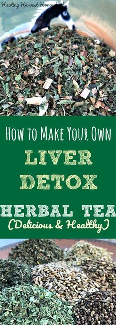 Liver Cleanse Detox Does your liver need a reset? Here's how to detoxify and clean your liver. Just make your own herbal tea blend using herbs that detox and support liver function Detox Tea Diet, Liver Detox Cleanse, Detox Your Liver, Detox Drinks, Detox Foods, Fruit Detox, Stomach Cleanse, Body Cleanse, Healthy Liver